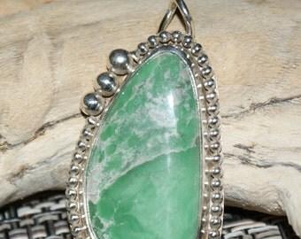 Lucin Variscite Sterling Silver Pendant by Susan