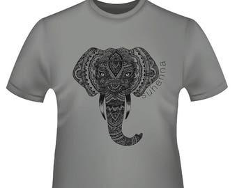 henna elephant t-shirt