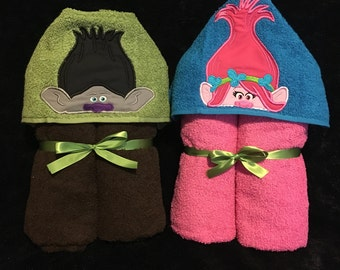 Troll hooded towels