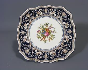 Vintage Wedgwood Florentine Pattern Cake Plate Bone China Wedgwood Florentine Cake Plate & Wedgwood plates | Etsy