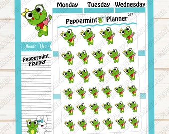 Lilly Pad Craft Time --- Hand Drawn --- Planner Sticker --- 257