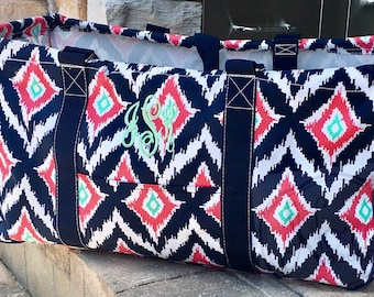 Monogrammed Large Utility Tote