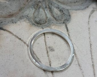 Sterling Silver Square Wire Band