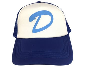 D Trucker Hat As Worn By Clementine In The Walking Dead Video Game Series Baseball Cap Clem Cosplay Costume Adult White And Blue