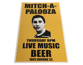 Mitch-A-Palooza Poster Like The Flyer In Old School Movie 11x17 Party Mitchapalooza Mitch Martin Prop Godfather Flier Wall Art Print Gift