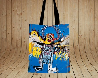 Fallen Angel Jean Michel Basquiat paintings Printed tote bag