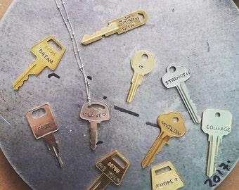hand stamped key