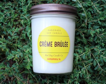 Creme Brulee Soy Candle   Crème Brûlée Candle   Soy Candle Gift   Crème Brûlée Candle   Soy Wax Candle   Fall Candle   Valentines Candle