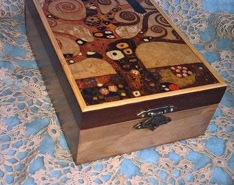 Tea box - Gustav Klimt - Tree of life