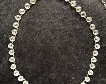 Art Deco English silver paste riviere necklace