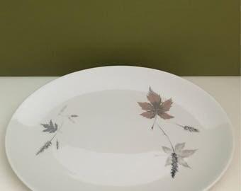 Vintage Royal Doulton Falling Leaves Platter & Covered Vegetable Bowl