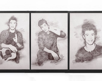 3-IN-1 Pack **50% OFF SALE** - Three Shawn Mendes Sketch Prints - Three For The Price Of Two // Shawn Mendes Print, Drawing, Sketch