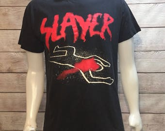 Vintage Slayer Shirt Heavy Metal Do Not Cross Slayer T Shirt