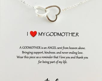 Delicate Heart Outline neckalce Gold Heart Godmother gift BAPTISM gift for Godmother Religious gift Godmother necklace dainty charm