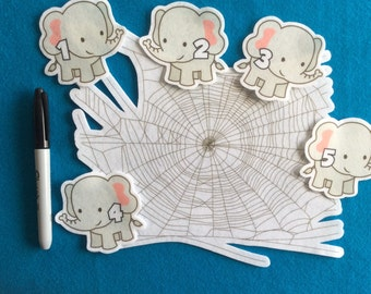 Felt stories// Felt stories 5 Elephants //Felt stories counting// felt stories numbers//felt stories dual language learner//toddler gift//