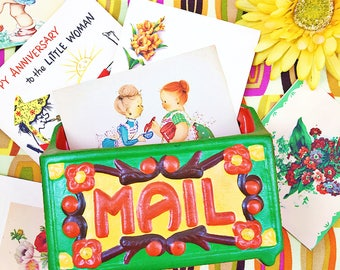 Vintage Ceramic Mail Holder, Retro Mail Holder, Wall Mail Holder, Retro  Office Decor