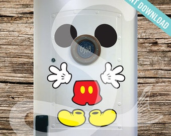 Disney Cruise Door Mickey Mouse Body Magnet - DIY Printable - Perfect for Disney Cruise Stateroom Door. Instant Download.