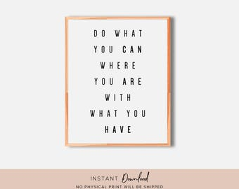 Inspirational Wall Art, Motivational Quote, Motivational Wall Decor, Printable Wall Art, Quote Print, Typography Print, Quote Wall Decor