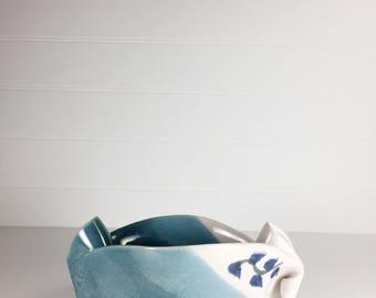 Vintage handmade ceramic crock   pottery   ceramic vessel   catch all