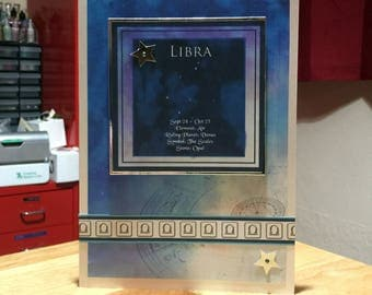 Libra Horoscope Birthday Card - Zodiac/Star Sign -luxury personalised unique quality special astrological UK