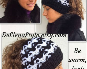 Winter mom messy bun hat is popular in this season, could be perfect birthday gift beanie for her