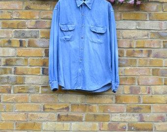 XLarge Double Breasted Denim Shirt