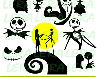 60 % OFF, Nightmare Before Christmas SVG, Jack Skellington svg, Halloween Silhouette svg, dxf, ai, eps, png, Halloween Vector Files