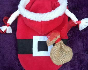 Santa dog costume, dog santa costume, santa costume for dogs, santa costume for female dogs, christmas dog costume