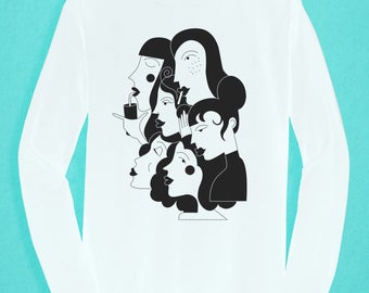 Long Sleeved white T-shirt - Girl Gang