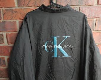 1990s Calvin Klein Jacket 1990s Calvin Klein Jeans Logo Coat Vintage CK Jeans Jacket