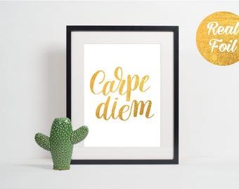 Gold Foil Print - Carpe Diem