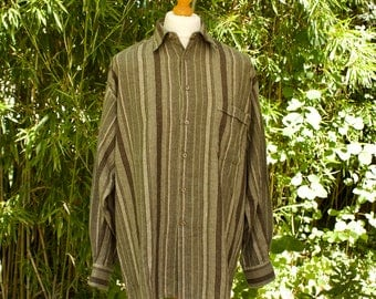 Vintage Long Sleeved Hippie Style Shirt  Size - Extra Large