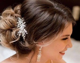 Bridal hair comb Wedding hair comb Crystal hair comb Bridal headpiece Wedding headpiece Pearl hair comb Bridal hair piece Wedding comb