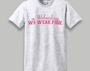 On Wednesdays We Wear Pink - Mean Girls Quote Graphic Tee - Heather Grey