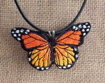 Monarch Butterfly Necklace Boho Choker