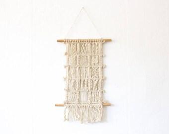 vintage boho macrame wall hanging