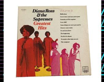Diana Ross & The Supremes - Greatest Hits Volume 3 LP Record, 1969 Vintage Vinyl Record Album, funk, soul