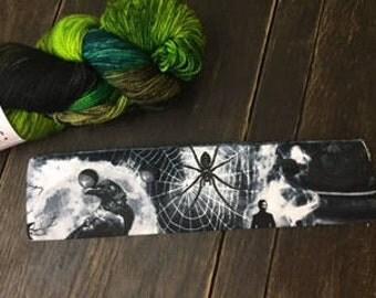 """Poe Gothic Needle Holder,  6-8"""" DPN Holder for Knitting, Circular Needle Holder, DPN needle holder, Circular holder"""