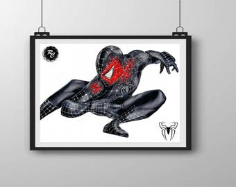 Spiderman 3 Symbiote - A4 Matte Print