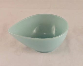 Vintage Turquoise Blue Fire King Mixing Bowl, Batter Bowl