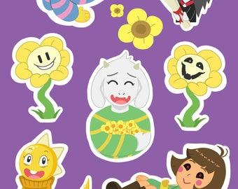 Undertale A5 Sticker Sheet
