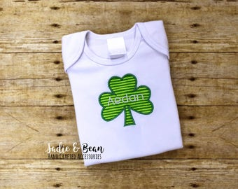 Kids St. Patrick's Day Shirt, St. Patrick's Day Shirt, Monogrammed St. Patrick's Day Shirt, Shamrock Shirt, St Patricks Outfits, Kids, baby