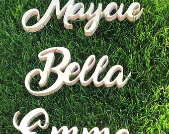 Unfinished Wooden Letters - DIY Wooden Letters - Sanded And Ready To Paint - Custom Wooden Name Cutouts