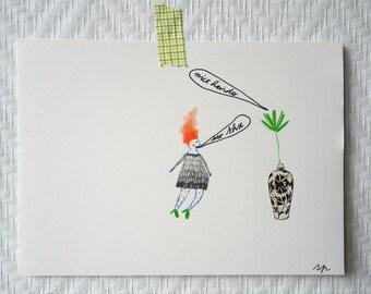 little ladies #1 original artwork