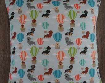 Dachshunds in hot air balloons