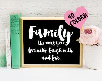 Family Print, Family Quotes, Family Quote Print, Housewarming Print, Housewarming Quotes, New Home Quotes, Nursery Prints, Family, Nursery