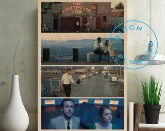 LA LA LAND - Print on Wood, La La Land Poster, Ryan Gosling, Emma Stone, Rosemarie DeWitt, John Legend, Film Stills Print, Unique Gift
