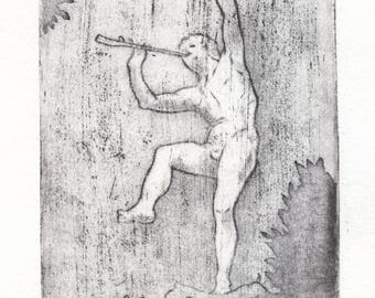 "Etching ""Faune du Luxembourg"""