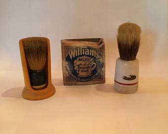 Vintage Shaving Brushes and Soap