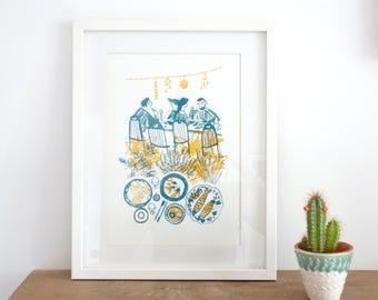 August Screen Print / Silkscreen Print / Limited Edition Original Artwork